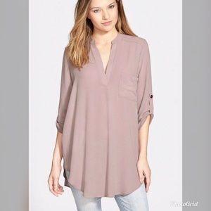 NWT Lush Women's Perfect Roll Sleeve Tunic Top